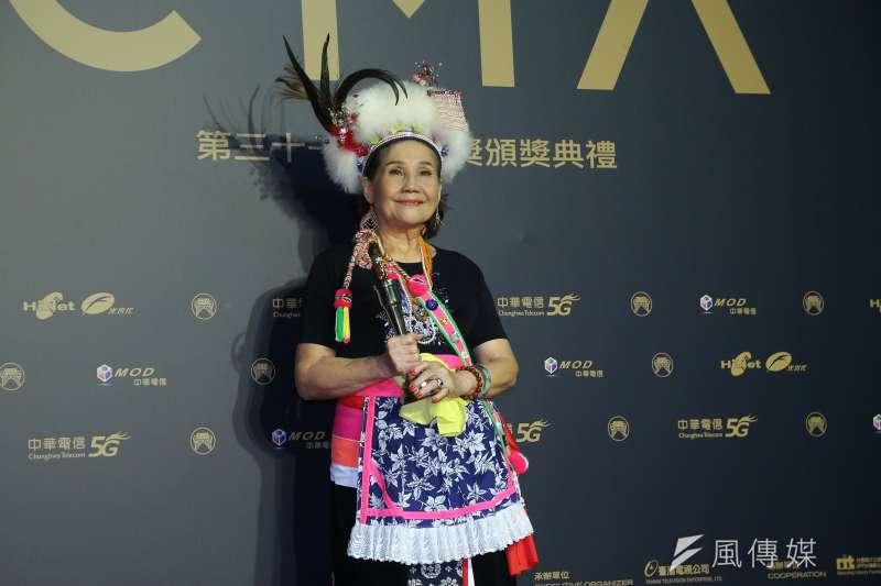 202001003-第31屆金曲獎,最佳原住民語歌手獎盧靜子。(顏麟宇攝)
