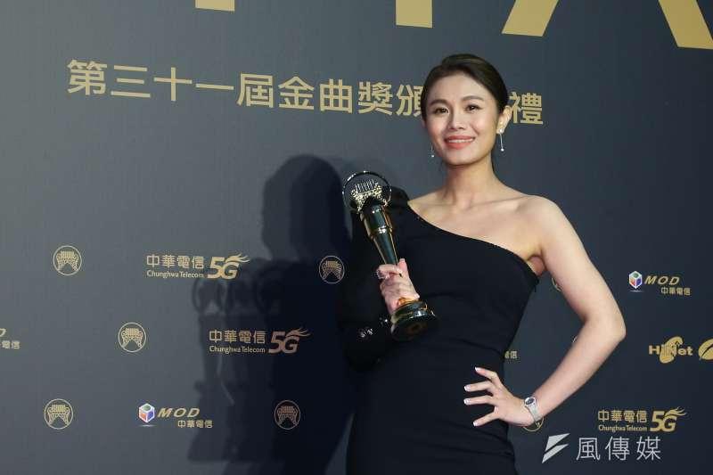 202001003-第31屆金曲獎,最佳台語女歌手獎朱海君。(顏麟宇攝)