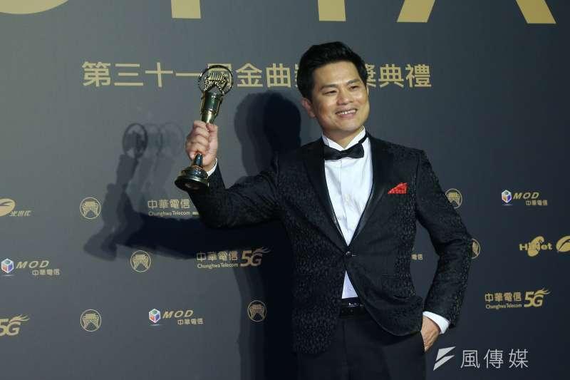 202001003-第31屆金曲獎,最佳台語男歌手獎蘇明淵。(顏麟宇攝)