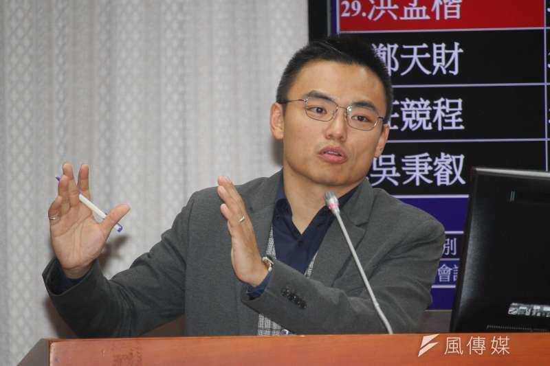 20201005-立委洪孟楷出席立院教育委員會質詢。(蔡親傑攝)