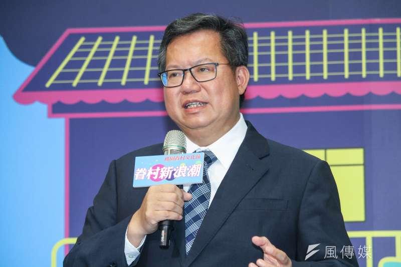 對於自己是下一任閣揆的熱門人選,桃園市長鄭文燦哈哈一笑表示「我專心當市長」。(資料照,蔡親傑攝)