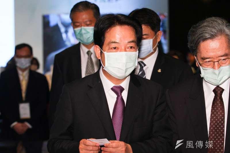 20201008-副總統賴清德出席由台灣亞洲交流基金會舉辦的「2020年玉山論壇:亞洲創新與進步對話 」論壇。(蔡親傑攝)