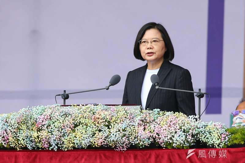 總統蔡英文發表國慶演說。(資料照,顏麟宇攝)