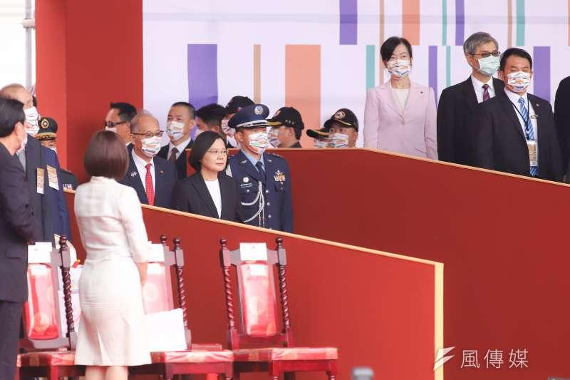 109年國慶典禮,總統蔡英文進場。(資料照,陳品佑攝)