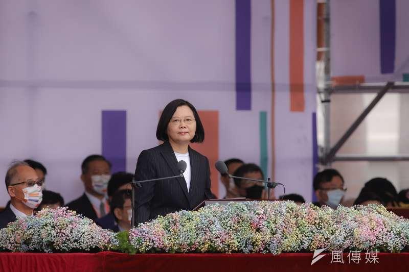 20201010-109年國慶典禮,總統蔡英文致詞。(陳品佑攝)