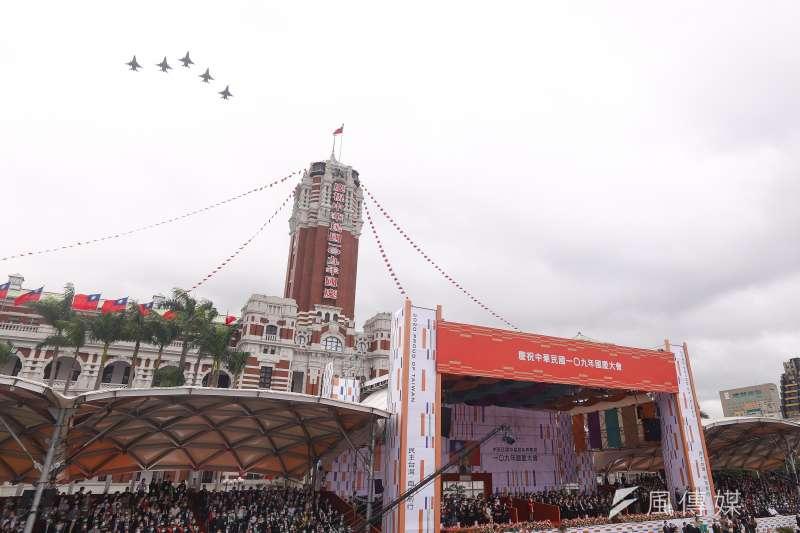 20201010-109年國慶典禮,F16戰機衝場。(陳品佑攝)
