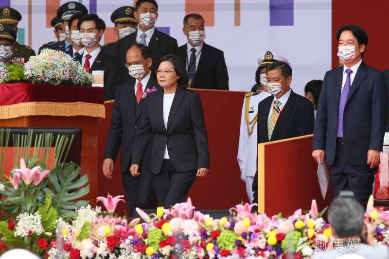 20201010-總統蔡英文10日上午發表國慶文告。(顏麟宇攝)