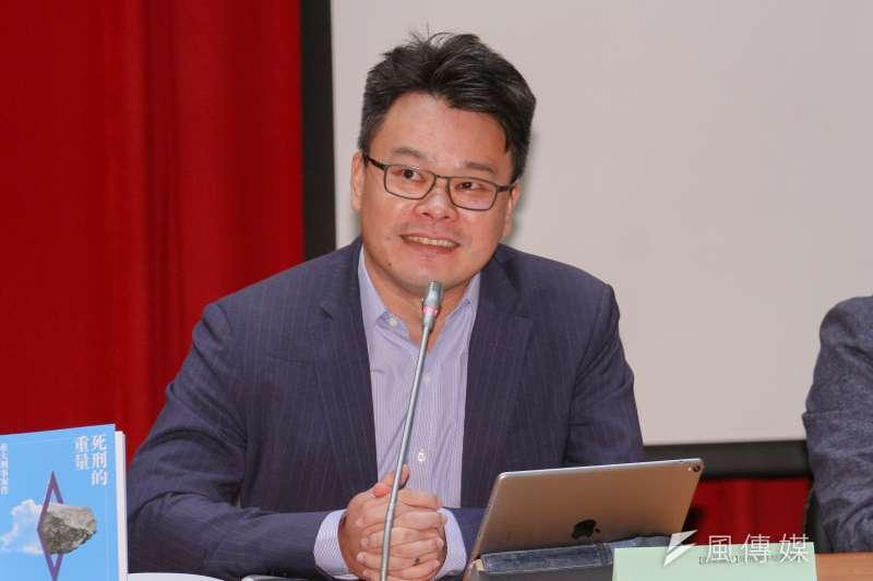 20201010-台灣廢死聯盟舉辦「瘋癲、審判與懲罰:2020台灣死刑判決」研討會,圖為林俊宏律師發言。(蔡親傑攝)
