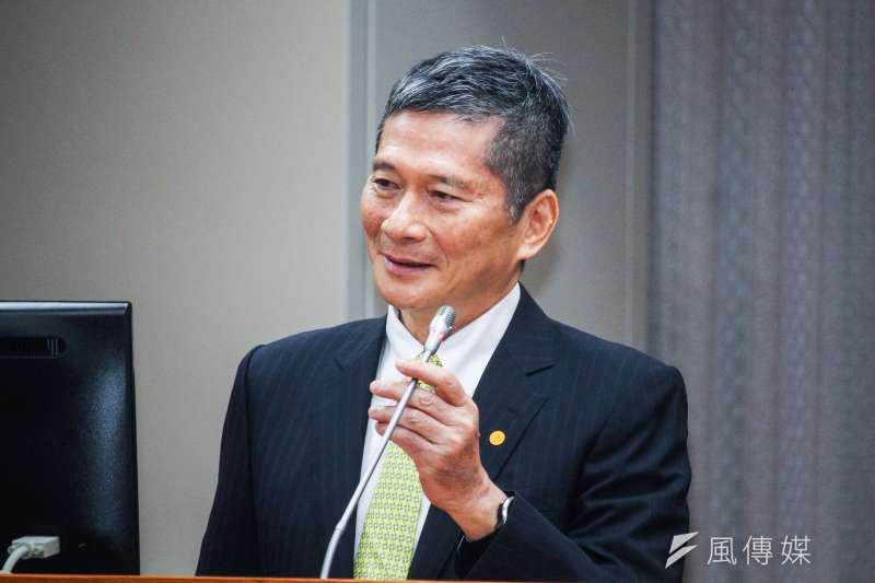 文化部長李永得表示,國美館相關爭議,文化部第一時間已啟動政風調查,而林志明已經自請借調期滿,不再續任。(蔡親傑攝)
