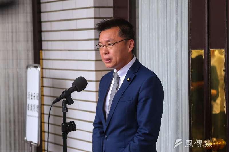 20201013-民進黨立委趙天麟13日於立院接受媒體聯訪。(顏麟宇攝)