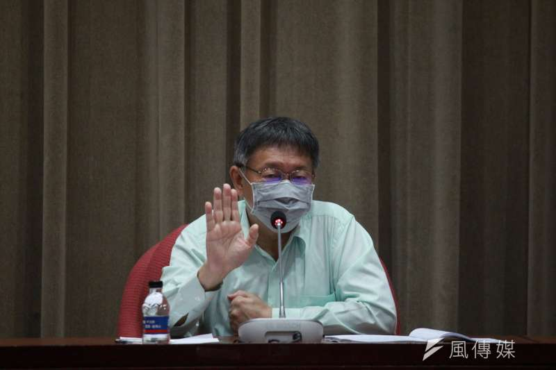針對中天案,台北市長柯文哲14日表示,若真是罪證確鑿就沒話講。(方炳超攝)