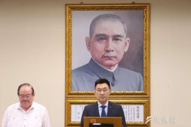 謝坤宏21日在國民黨中常會發言時,稱孫中山已經得道成仙,法號「偉慈真君」。(資料照,顏麟宇攝)