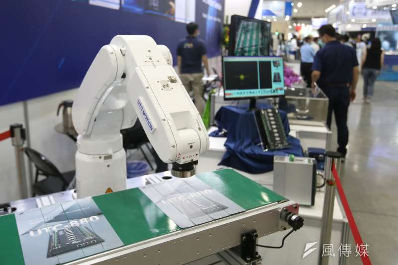 伴隨景氣復甦,機器人產業落底復甦的趨勢逐漸成形。(柯承惠攝)