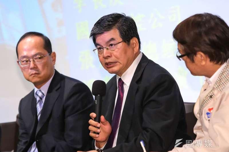 李長庚表示,保險業最適合投資不動產,期盼金管會鬆綁相關限制。(顏麟宇攝)