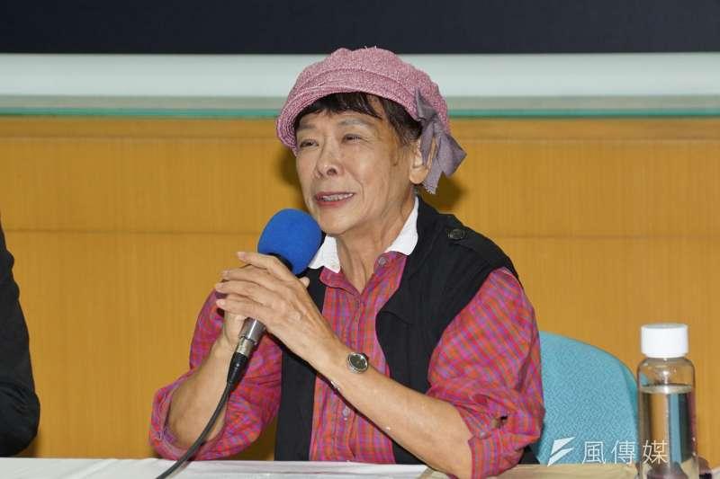 台大法律系名譽教授賀德芬表示,「蔡蘇政府」的法律因人而異,沒做到法律要求的平等對待、保障人權。(盧逸峰攝)