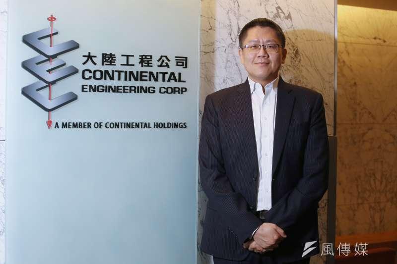 大陸工程資訊部副總經理闕孝賓表示,希望透過科技運用,解決營造業長久以來的痛點,同時提升效率。(柯承惠攝)