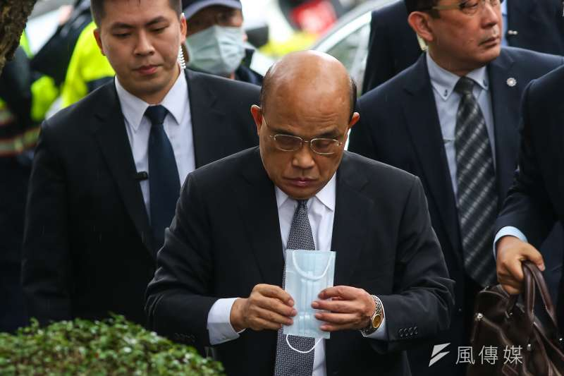 行政院長蘇貞昌19日向國人道歉,坦言「沒把分配秩序節奏弄好」,讓民眾一時困擾,「這點確實沒有做到,實在對不起。」(資料照,顏麟宇攝)