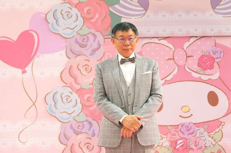 台北市長柯文哲(見圖)說自己可以請國民黨立委蔣萬安吃飯,只要等他做好心理準備。(林瑞慶攝)