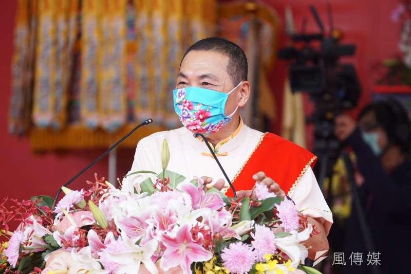 新北市長侯友宜(見圖)表示,自己是基層公務員出身,工作30多年來把市民要求的事情全力做到。(盧逸峰攝)