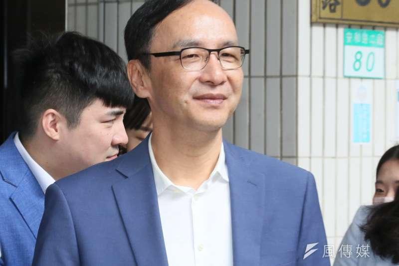 國民黨前主席朱立倫(見圖)表示,如果台灣選邊站,在接下來的美國總統大選會非常危險。(柯承惠攝)