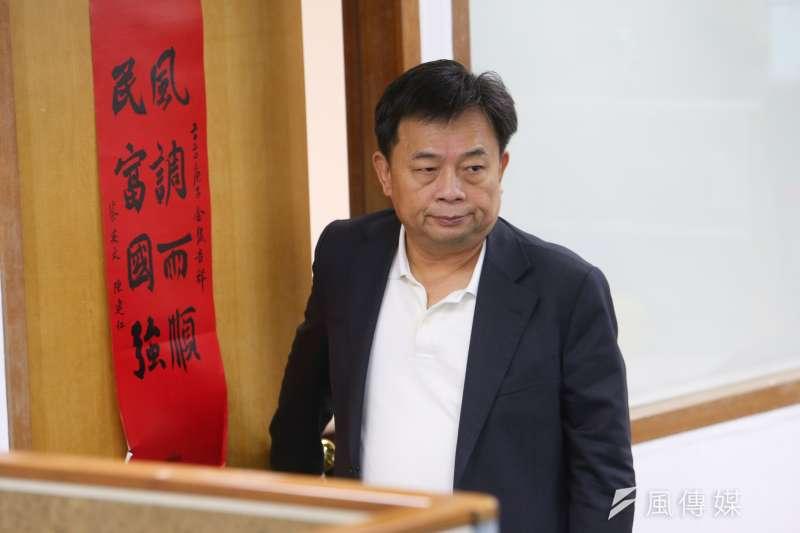 20201021-民進黨秘書長林錫耀21日出席民進黨中常會。(顏麟宇攝)