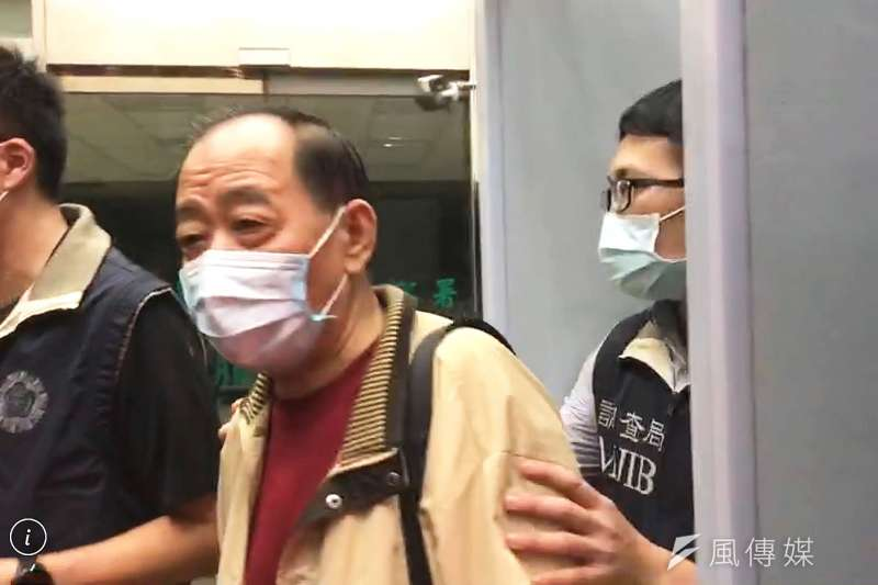 涉及共諜案的軍情局退役上校張超然,到北檢應訊時驚爆他是在中國工作的台灣特務。(侯柏青攝)