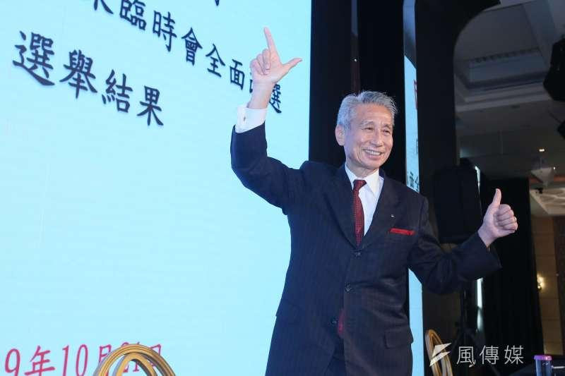 大同公司21日召開臨時股東會重新改選董事,當選董事王光祥會後受訪。(柯承惠攝)