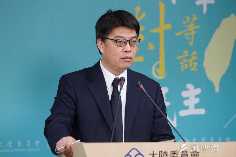 中國全國政協主席汪洋稱台灣前途需由全體中國人決定。陸委會副主委邱垂正(見圖)表示,台灣人未來的選擇,全由2300萬人民來決定。(盧逸峰攝)