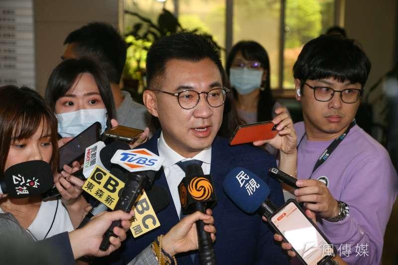 外傳江啟臣有望競爭2022桃園市長,而江啟臣則於24日受訪回應外界並沒有想過參選。(資料照,顏麟宇攝)