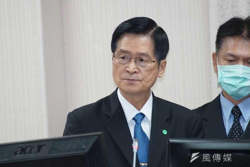 國防部長嚴德發22日上午赴立法院備詢,並針對美對台軍售案進行說明。(盧逸峰攝)