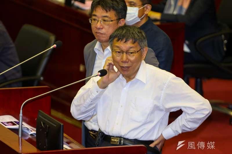 20201023-台北市長柯文哲23日於市議會備詢。(顏麟宇攝)