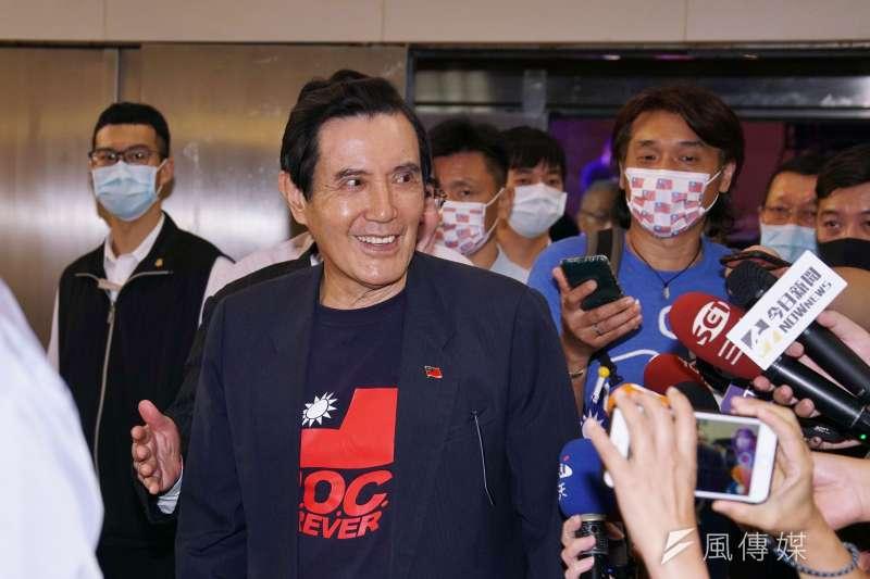 前總統馬英九(見圖)表示,若中天新聞台被關台,是殺了台灣的民主跟自由。(盧逸峰攝)