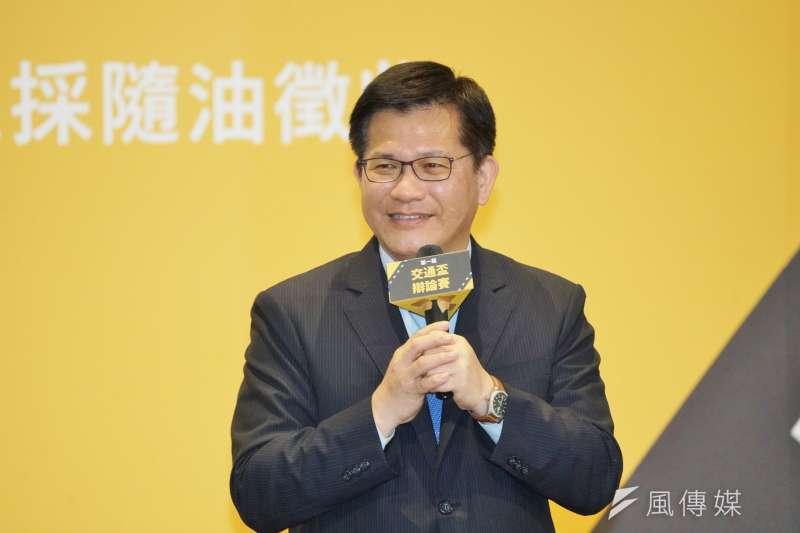 20201026-交通部長林佳龍26日出席交通盃辯論比賽閉幕典禮。(盧逸峰攝)