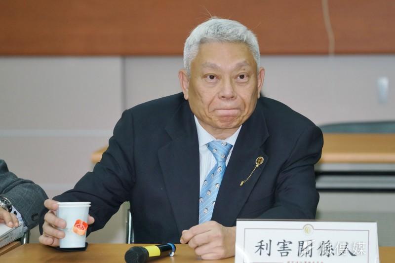 NCC於26日舉行中天新聞台換照聽證會,旺中集團創辦人蔡衍明親自到場。(盧逸峰攝)