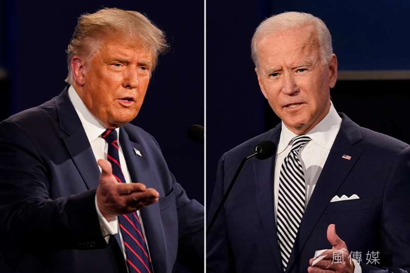 2020美國總統大選,川普拜登對戰(美聯社/風傳媒後製)