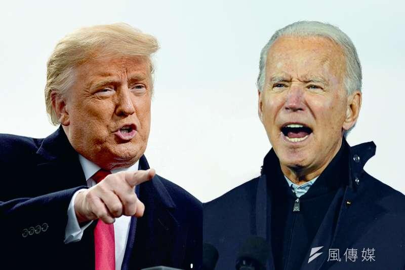 2020美國總統大選,川普拜登對戰組圖。(美聯社/風傳媒後製)