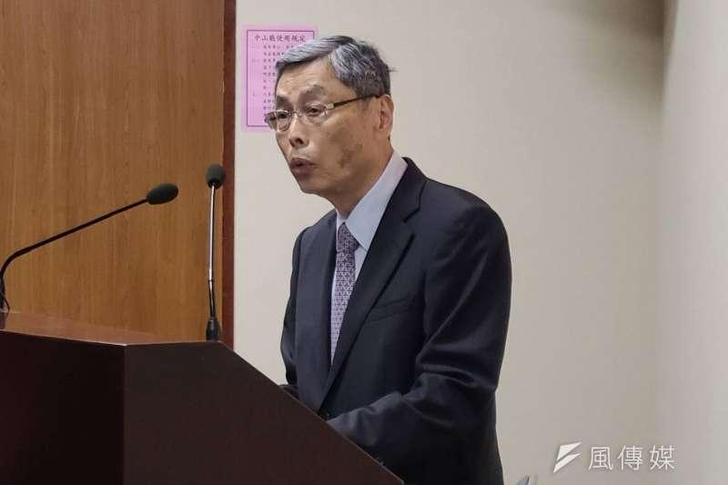 針對兩岸關係,前海基會副董事長高孔廉28日在國民黨中常會上進行專題演說。(潘維庭攝)