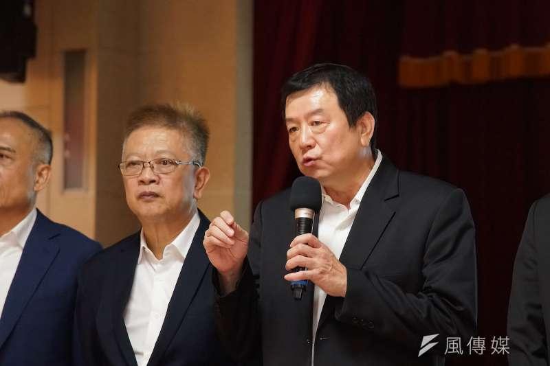 20201028-旅行業者28日召開「疫情下,旅行產業的未來」 記者會,旅行公會全聯會理事長蕭博仁發言。(盧逸峰攝)