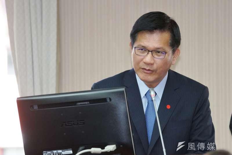 20201028-交通部長林佳龍28日於交通委員會備詢。(盧逸峰攝)