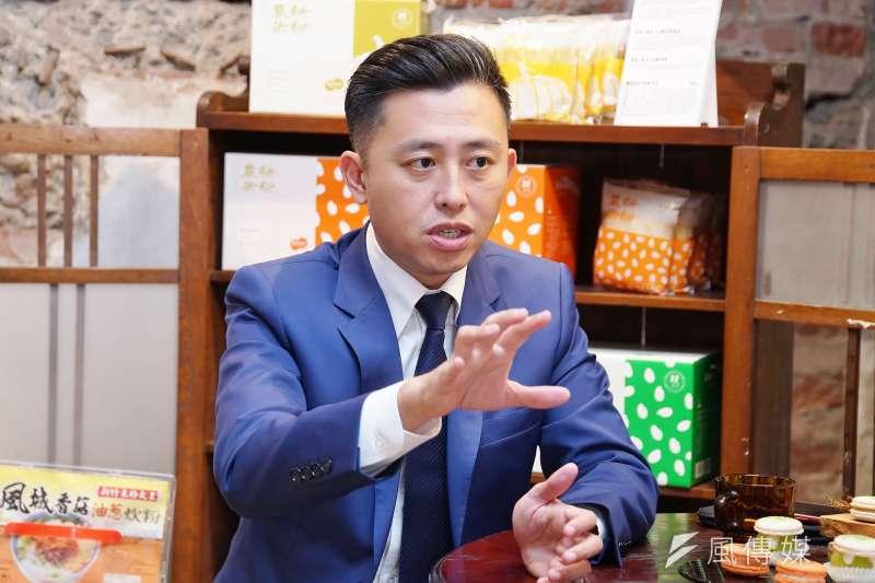 新竹市長林智堅拋出縣市合併升格的話題。(資料照,盧逸峰攝)