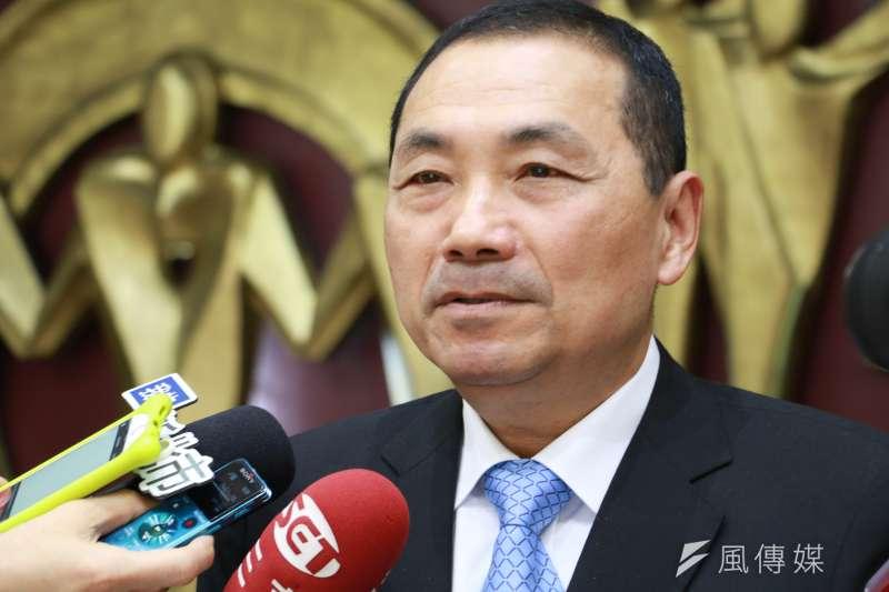 對於環狀線經營權,台北市長柯文哲提出交換捷運方式,新北市長侯友宜(見圖)則駁斥,表示3年一到就收回來。(資料照,李梅瑛攝)