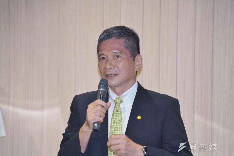 文化部長李永得13日出席華文朗讀節開幕記者會,針對圖書統一定價問題進行說明。(資料照,盧逸峰攝)