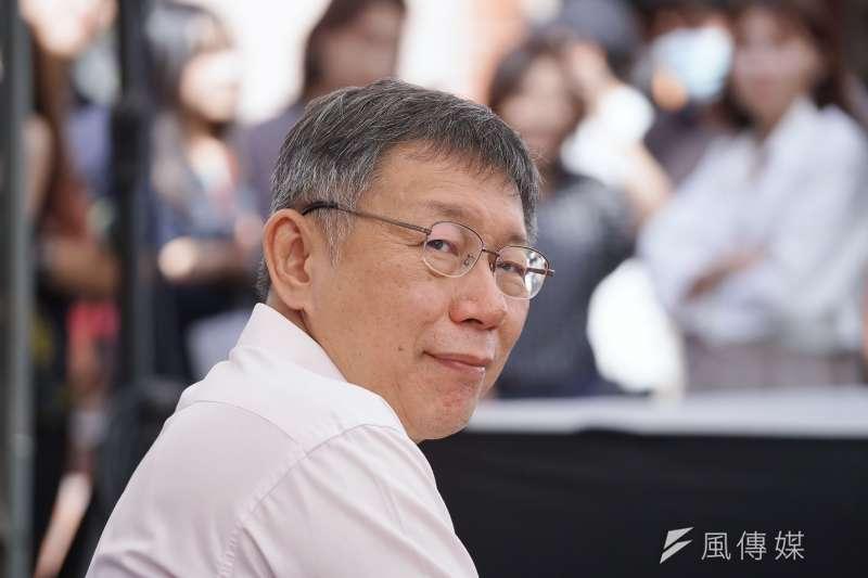 《TVBS》最新民調顯示,半年前政治聲望排名在後段班的台北市長柯文哲(見圖),從第10名一舉躍升至第5名。(資料照,盧逸峰攝)