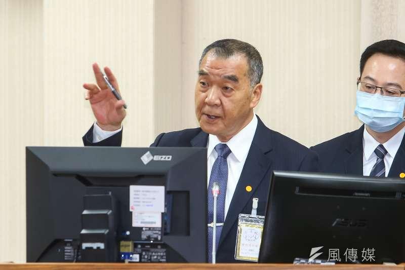 國安局長邱國正(見圖)坦言兩岸全面開戰機率「比平常高」。(顏麟宇攝)