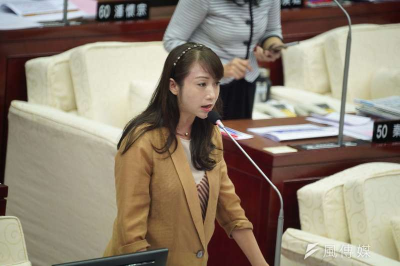 20201029-台北市議員許淑華29日於市議會質詢。(盧逸峰攝)