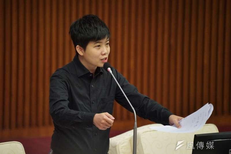 20201029-台北市議員苗博雅29日於市議會質詢。(盧逸峰攝)