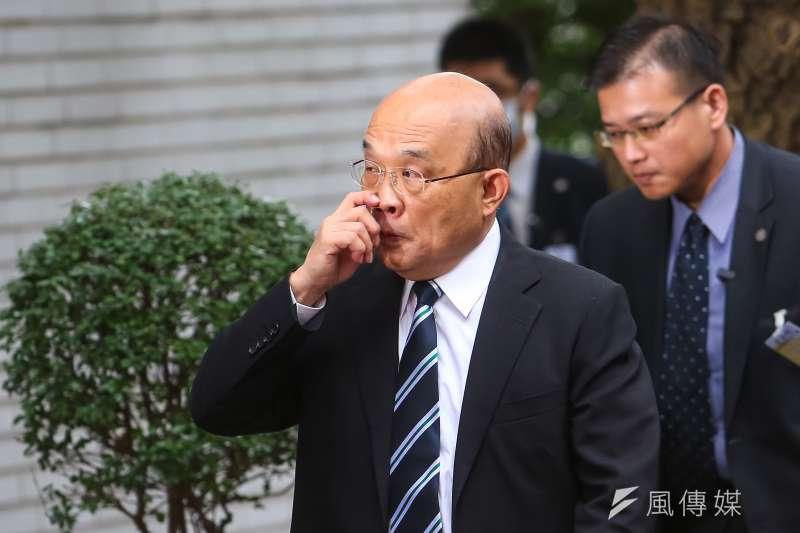 20201103-行政院長蘇貞昌3日出席立院院會。(顏麟宇攝)