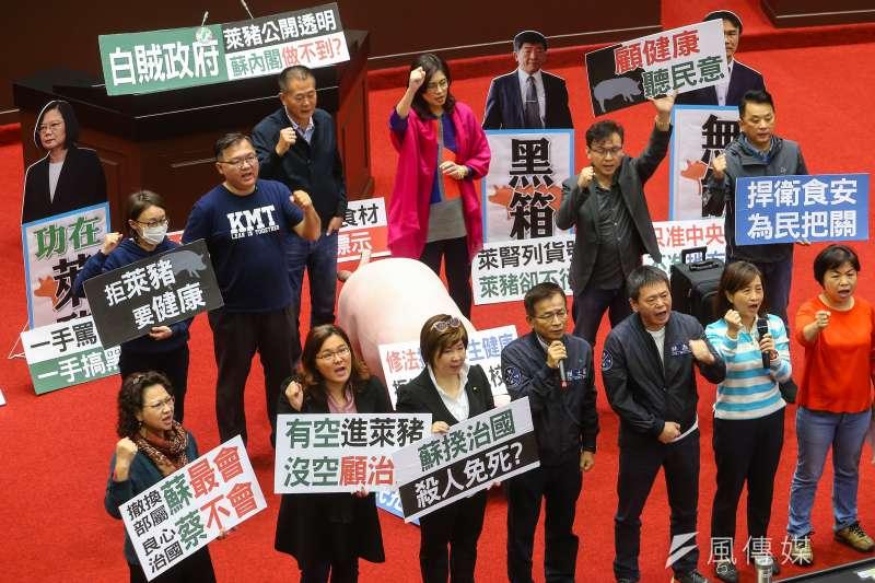20201103-國民黨立院黨團3日持續佔領議場進行議事杯葛。(顏麟宇攝)