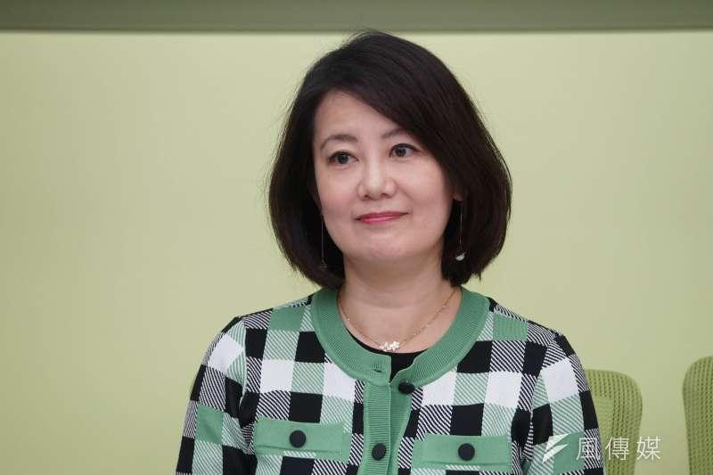 國民黨台北市議員羅智強點名民進黨立委吳思瑤(見圖)是「台北市挺萊豬的第1名立委」,並揚言發起罷免。(資料照,盧逸峰攝)