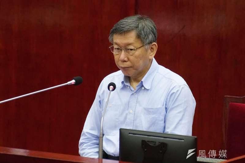 身為二二八受難家屬的台北市長柯文哲(見圖)表示,自己被民進黨迫害沒有比較少。(盧逸峰攝)